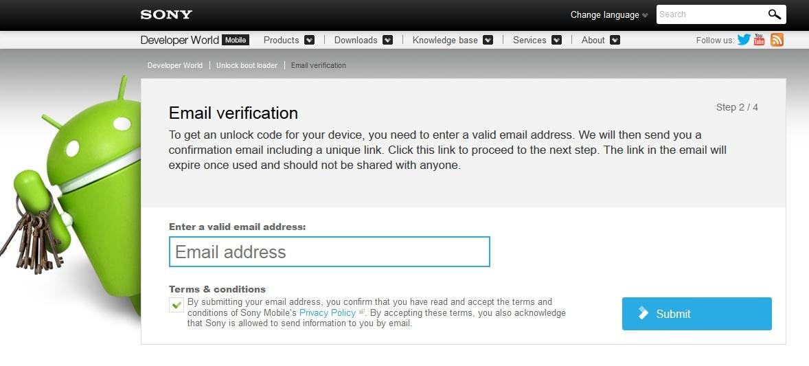 Xperia M2 bootloader unlock