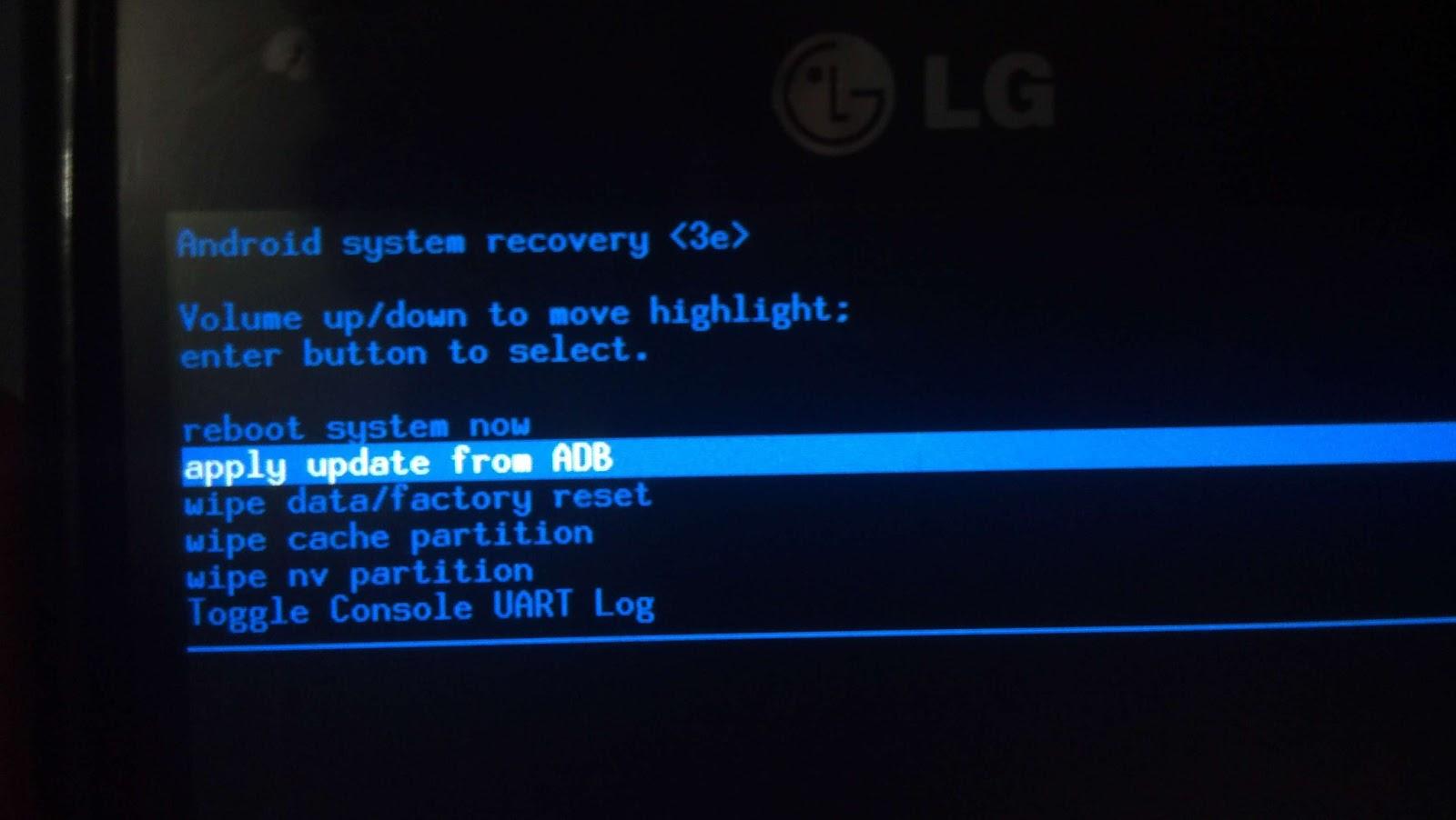 LG Optimus 4x HD apply update.
